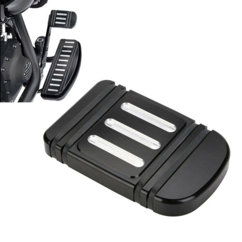 CNC Edge Cut Brake Pedal Pad Cover For Harley Touring Electra Street Tri Glide