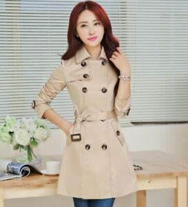 Korean Women Belt Slim Fit Double Breasted Trench Coat Spring Windbreaker Casual Ebay We stock the hottest styles and coolest products for women and men. ebay