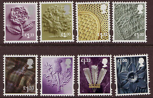 GREAT BRITAIN 2015 TARRIFF CHANGE NEW REGIONALS SET OF 8 UNMOUNTED MINT,