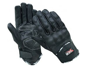 Lighweight-Vented-Leather-Motorbike-Motorcycle-Gloves-Knuckle-Shell-Protection