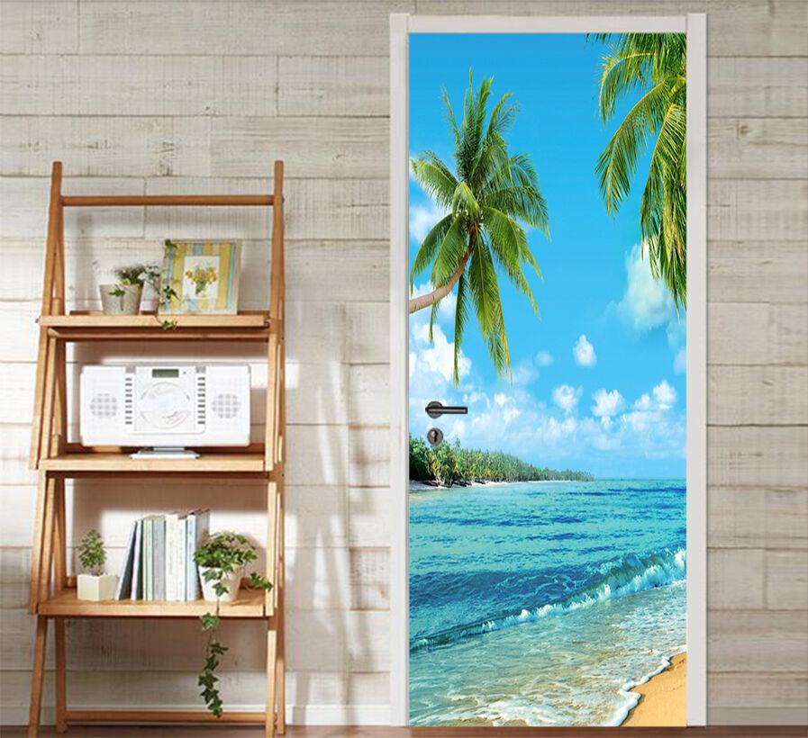 3D Die Palmen 716 Tür Wandmalerei Wandaufkleber Aufkleber AJ WALLPAPER DE Kyra