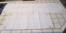 2 Vintage Table Runners Machine Embroidered Eyelet Ecru Cream w/PINK ROSES