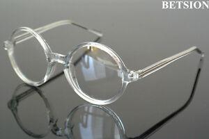 e188e6cc85ef Image is loading Transparent-Clear-Vintage-Round-Reading-Glasses-Full-Rim-