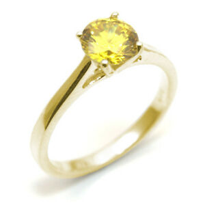 Diamond-Unique-Solitaire-Lemon-Sapphire-9ct-Gold-Ring-1ct-Engagement-Ring