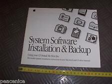 Vintage Apple Macintosh anacardos 650 sistema de computadora Folleto de instalación (sin Cd)