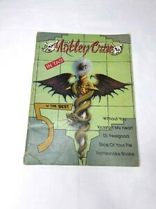 Motley Crue Tab Book 1989 Paperback Dr Feelgood Music Vintage Rock Collectable Ebay