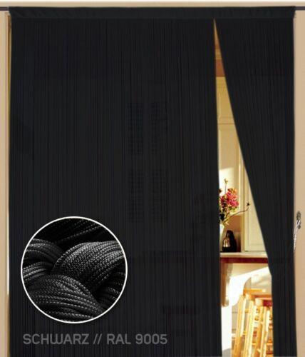 BxH schwarz Fadenvorhang 090 cm x 200 cm