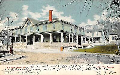 Postcard - Excelsior Springs, MO - Saratoga Hotel - OLD