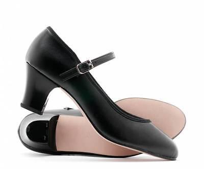 Character Shoes Girls Size 13½ Black Cuban Heel Ballet Syllabus Dance Shoes BNIP