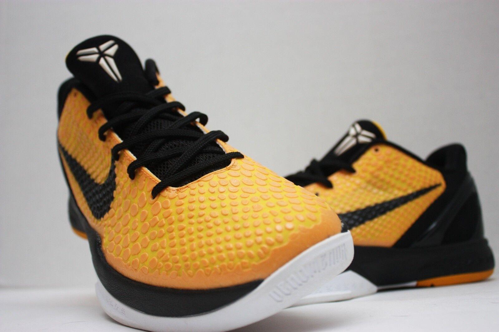 Nike Kobe VI 6 Del Sol Bruce Lee Size 11 - Light Bulb Yellow Black - 429659 700