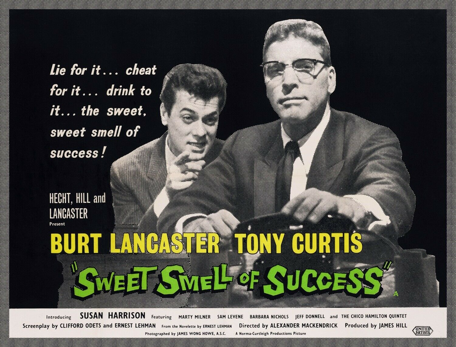 Decor Poster.Home interior design.Room wall art.Sweet Smell Success movie.6907
