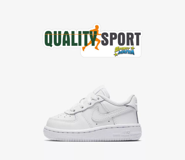 new product d7723 740ff Nike Air Force 1 Bianco Scarpe Shoes Bambino Infant Sneakers 314194 117 2019