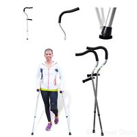 Medical Crutches Adjustable Handle Support Mobility Aids Health Equipment 1 Pair