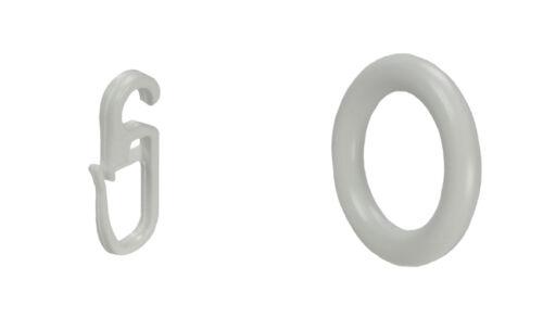 Ring für Cafehausstange Scheibenstange Bistrostange Stange 3 Farben 8 Stück