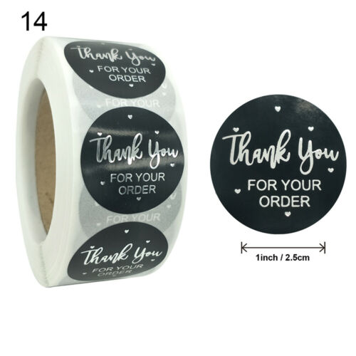Round label Gift Paper Sticker Sealing Craft Self Adhesive Thank You Stickers
