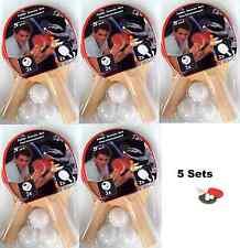 5x Tischtennisset 5 Teilig je (2 Tischtennis Schläger und 3 Bälle) B-Ware Neu