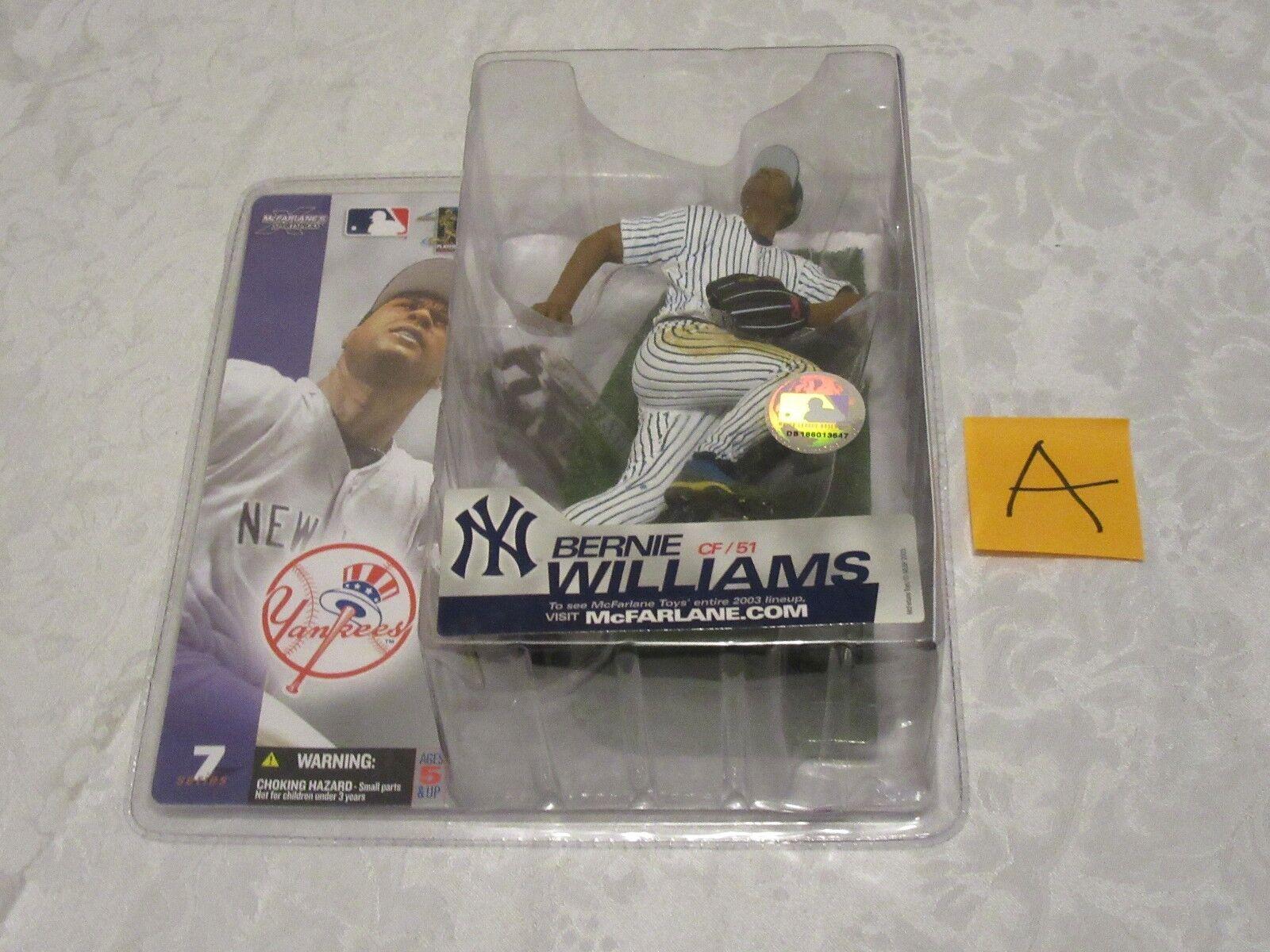 McFarlane MLB Series 7 Bernie Williams Chase Variant NY Yankees Pinstripes A