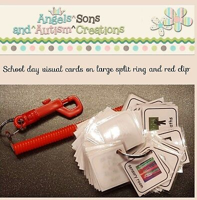 FOOD AND DRINK VISUAL CARDS ON SPLIT RING VISUAL CARDS AUTISM NON VERBAL