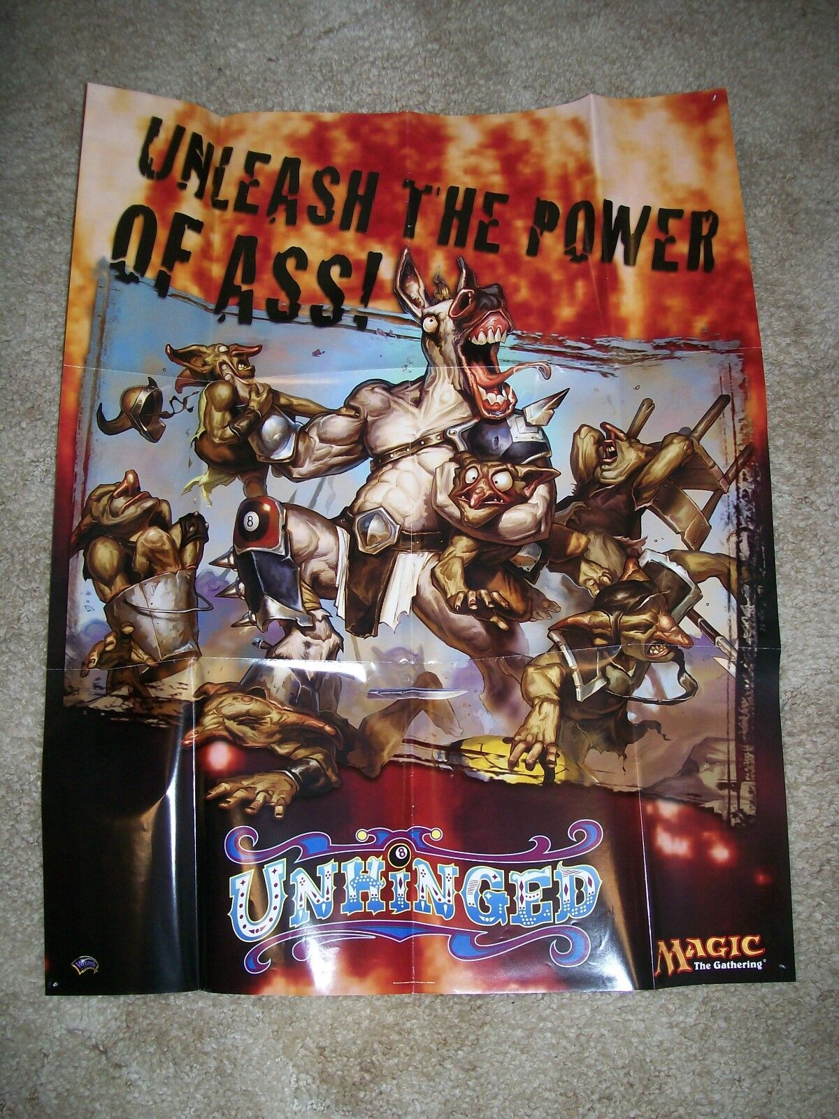 MTG Unhinged Promo Poster 2004 Unleash the Power of Ass  Magic the Gathering