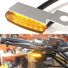 2pcs Mini Motorcycle Led Turn Signal Blinker Handlebar Light For Harley Davidson