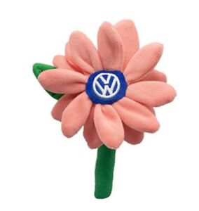 NEW-Volkswagen-Beetle-Plush-Coral-Daisy-Flower