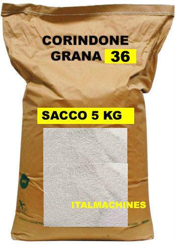 CORINDONE BIANCO SABBIATRICE GRANIGLIA GRANA 36 SABBIATURA SACCO PROVA DA 5 KG