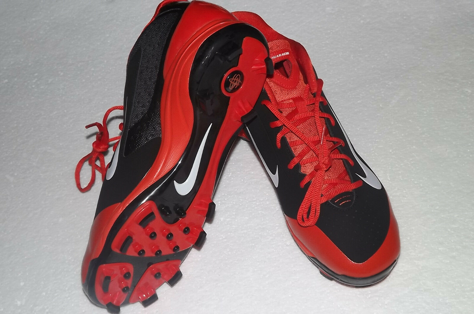 MENS NIKE AIR HUARACHE PRO LOW BASEBALL CLEATS ORANGE/BLACK 616922-019 Price reduction Wild casual shoes
