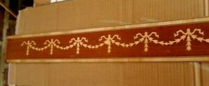 IngéNieux Vintage Exotique Bois Edge Placage Marqueterie Strip - 978 X 103 Mm - 60yrs Ancien-afficher Le Titre D'origine Service Durable