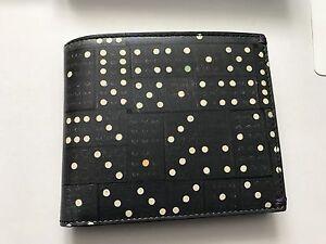 Paul-smith-Herren-Schwarz-Domino-8-cc-Geldboerse-Etui-mit-Muenzbeutel-Verpackt