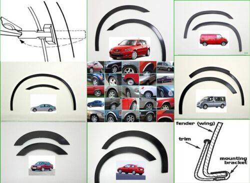 OPEL VECTRA C Estate 02-08 Wheel Arch Trims Wing Quater set 4 pcs BLACK MATT new