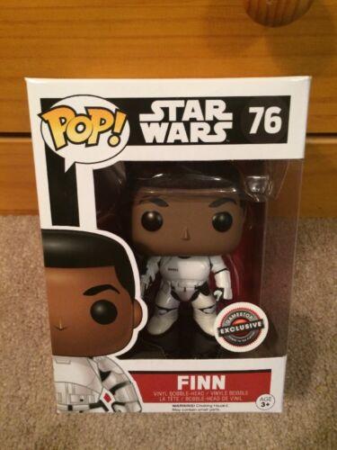 Stormtrooper Unmasked Star Wars GameStop Exclusive Funko Pop Finn #76