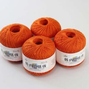 4ballsx50g-Hand-DIY-Knitwear-Cotton-Lace-Crochet-Shawl-Scarf-Knitting-Yarn-23
