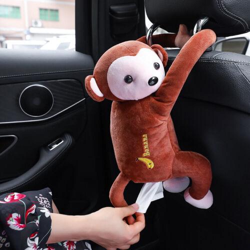 Hanging Monkey Tissue Holder Box Cover Cute Car Cartoon Animal Home Decor New