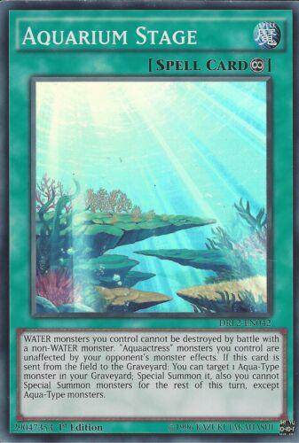 DRL2-EN042-1st EDITION AQUARIUM STAGE YU-GI-OH CARD SUPER RARE