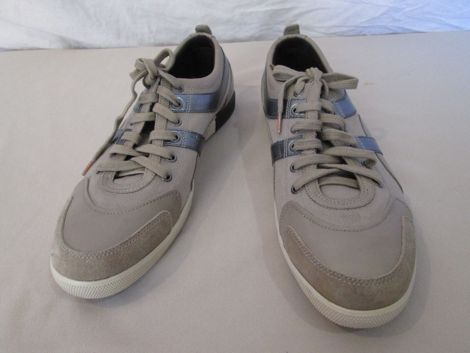 Genuine Femme Hugo Boss nylon and leather sneakers  chaussures  41 9.5 in taupe