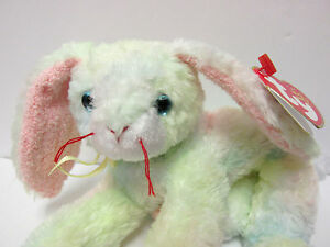 Ty Beanie Baby Cottonball Tie-Dyed Soft Pastels Bunny MINT Brand New ... aabfff65cc85