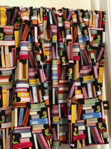 41 X 15 INCHES Handmade Bookworm Back to School  Valance