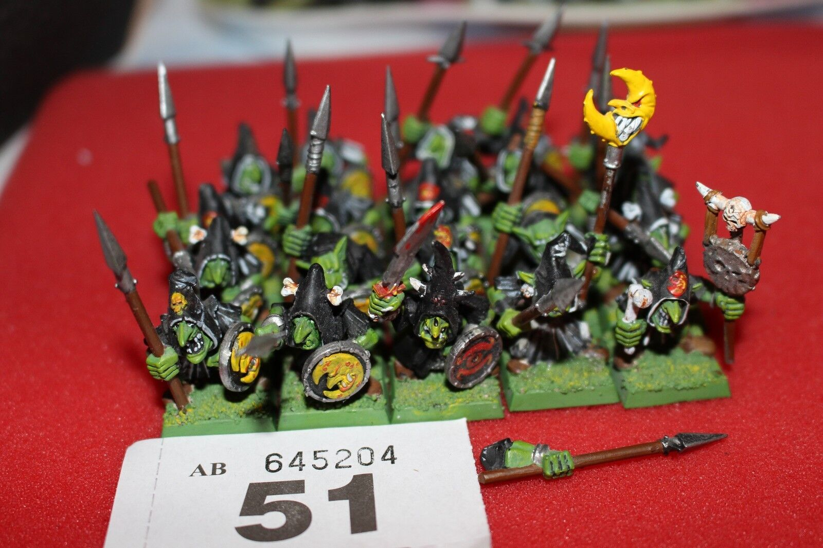 Games Workshop Warhammer Night Goblins Moonclan Greds x20 Painted Regiment Army