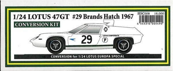 Studio27 1 24 Trans Kit Lotus47gt Brands Hatch 1967 Kit de Conversión