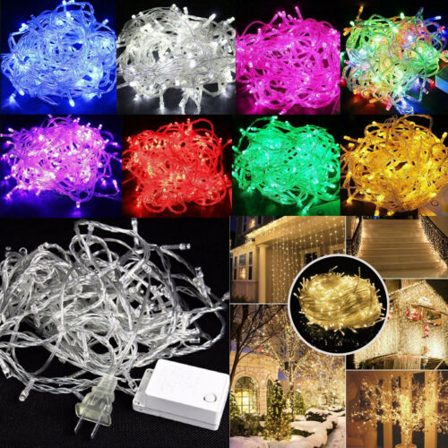 100M LED String Lights Christmas Tree Party Garden Decor Lamp S Waterproof 10M