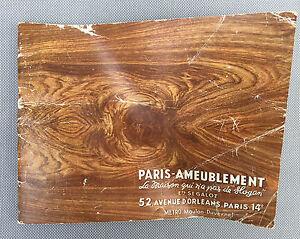 Antico catalogue Parigi arredamento anni 40 ? collezione età ...