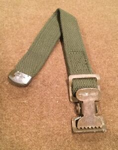 US-Military-Vehicle-Army-Jeep-11-034-Pioneer-Tool-Webbed-Canvas-Strap-Clip-Assembly