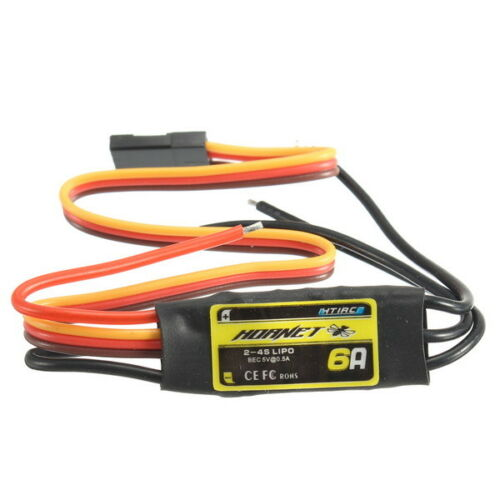 Htirc Hornet Series 6A 2-4S Brushless ESC With 5V//0.5A BEC For RC Airplane