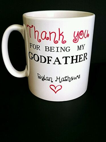 Thank you for being my Godfather Mug Personalised New