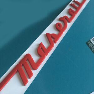 Autozubehoer-hinten-Emblem-Aufkleber-Abziehbild-Abzeichen-rote-Logo-fuer-Maserati