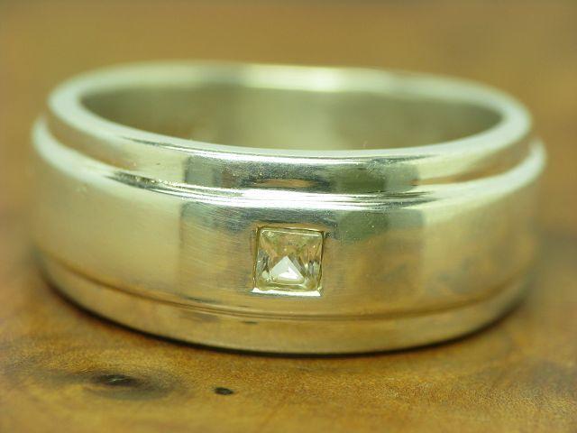 925 STERLING silver RING MIT ZIRKONIA BESATZ   ECHTsilver   5,6g   RG 54
