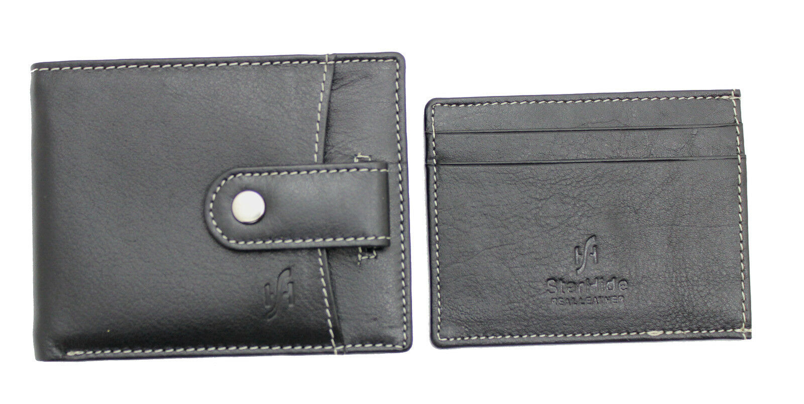 Mens RFID Blocking Black Leather Wallet With Minimalist Cardholder