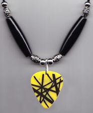 Van Halen Yellow Frankentrat Guitar Pick Necklace 2012 Tour Wolfgang Eddie