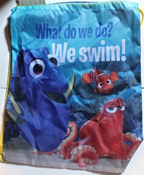 Disney Finding Dory Drawstring School Sports Gym /& Swimming Bag