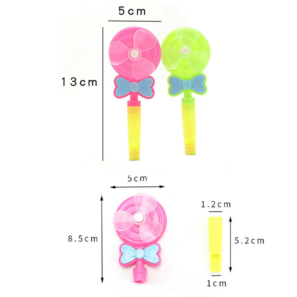 4pcs Creative Windmill Whistling Handle Toy Pinwheel Kids Toys Windmill Toy